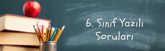 6. Sınıf Yazılı Soruları