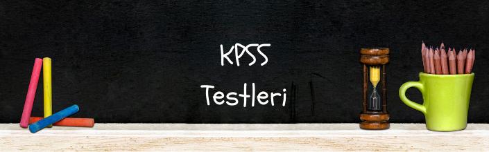 KPSS Testleri çöz
