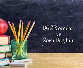DGS Konuları ve Soru Dağılımı